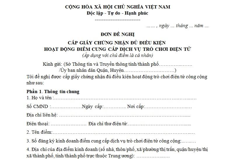 Thủ tục Xin giấy chứng nhận đủ điều kiện kinh doanh phòng net
